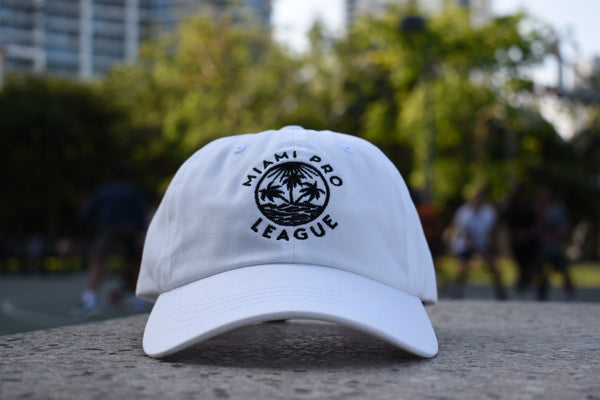 Limited Edition Miami Pro League Dad Hat in White