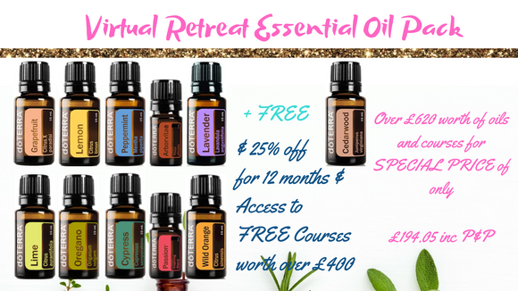 The Virtual Wellness Retreat Essential Oils Pack