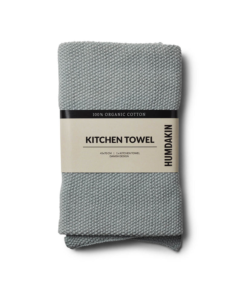 HUMDAKIN Knitted kitchen towel Organic textiles 019 Stone