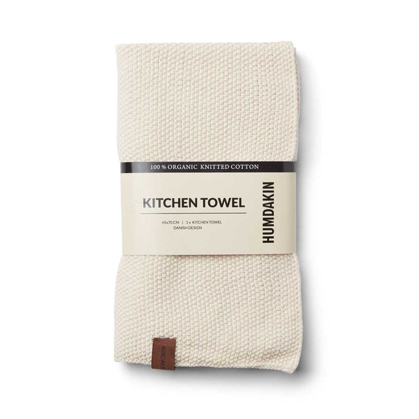 HUMDAKIN Knitted kitchen towel Organic textiles 029 Shell