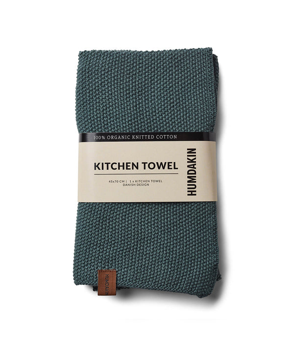 HUMDAKIN Knitted kitchen towel Organic textiles 03 Green Seaweed