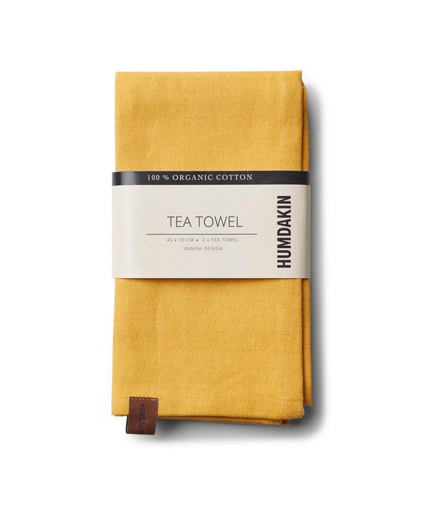 HUMDAKIN Organic tea towel - 2 pack Organic textiles 08 Yellow Fall