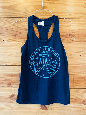 Enjoy The Ride Navy Tank Top