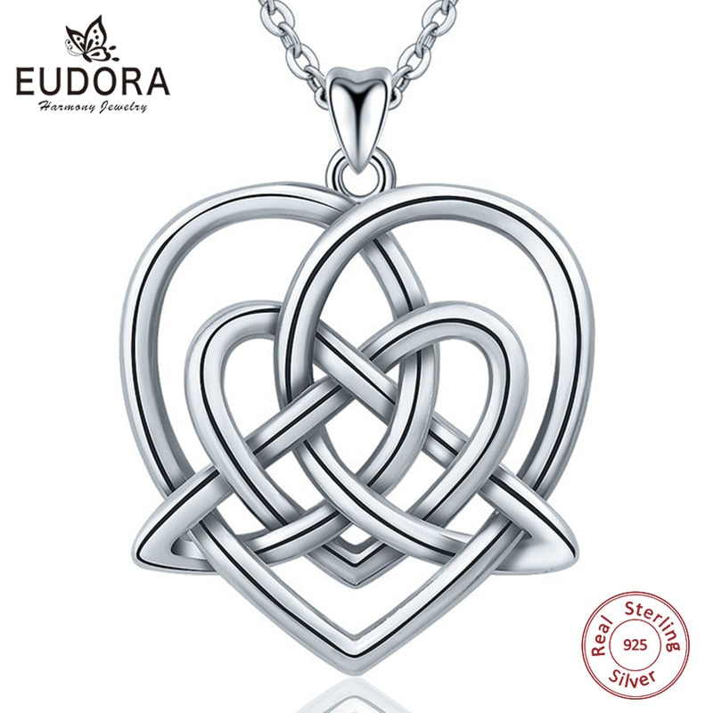4055a19ecfc90 Celtic Knot Heart Pendant in 925 Sterling Silver