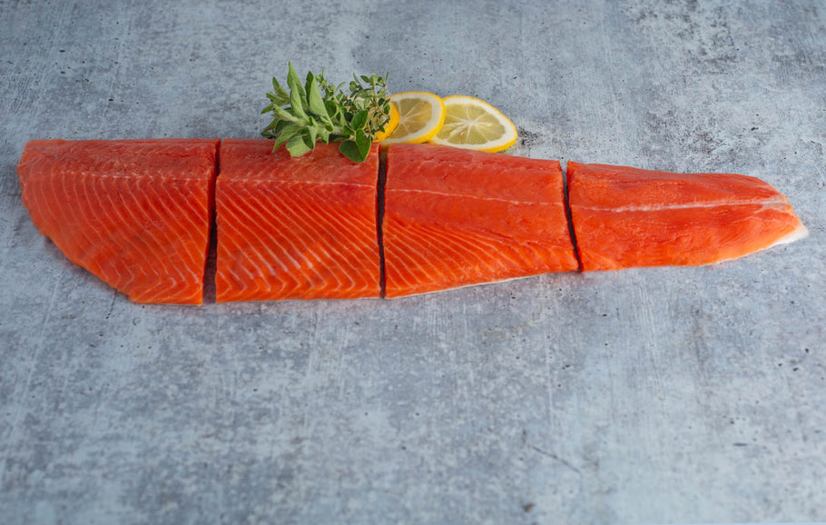 How many servings are there in a salmon fillet?