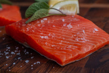 Load image into Gallery viewer, SALMON PORTIONS •  $17.99/lb - $19.99/lb