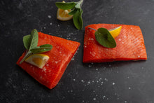 Load image into Gallery viewer, SALMON PORTIONS •  $17.99/lb - $19.99/lb (TESTING PARTIALLY)