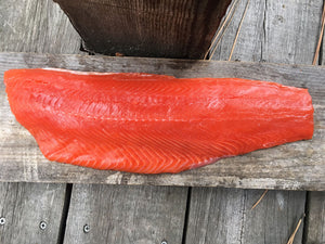 SALMON FILLETS 20 LB CASE • $16.99/lb