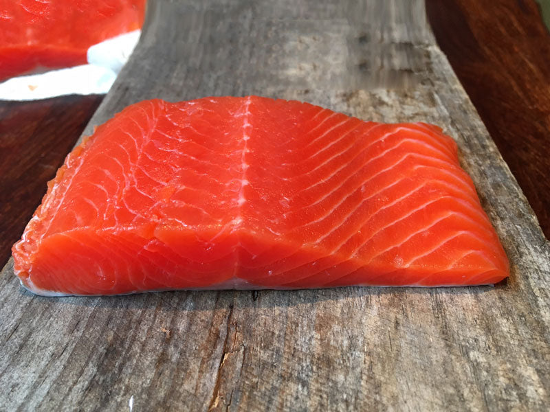 SALMON PORTIONS 20 LB CASE  •  $17.99/lb