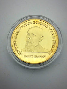 Paddy Hannan Gold Plated Coin