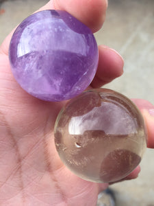 Amethyst and Citrine Sphere Set