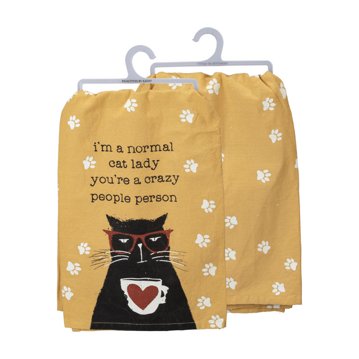 Normal Cat Lady Dish Towel