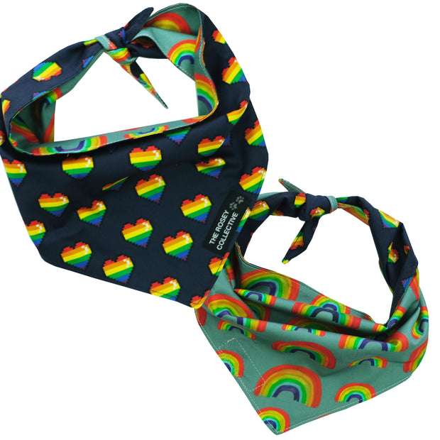 Retro Rainbow Bandana
