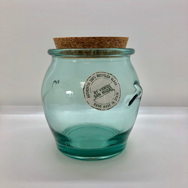 Recycled Glass Cork Jar-Jars-Flippin'Treasures