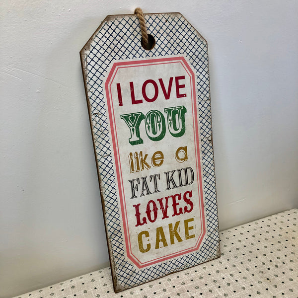 Cake Wood Sign-Wall Decor-Flippin'Treasures