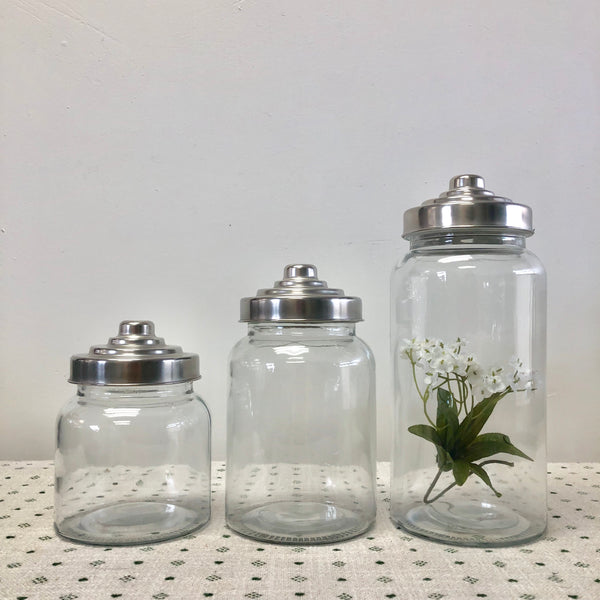 Glass Apothecary Jars-Jars-Flippin'Treasures