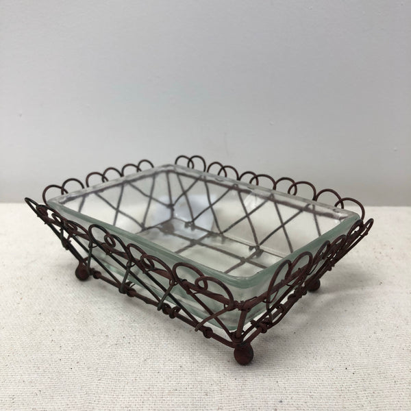 Wire & Glass Soap Dish-Houseware-Flippin'Treasures