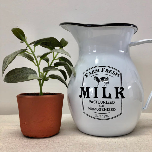 Enameled Milk Pitcher-Pitcher-Flippin'Treasures