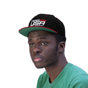 "Flat Bill ""Snapback"" Hat - (6 colors available) USDHF_2"