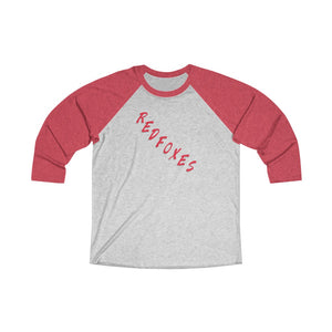 Unisex Tri-Blend 3/4 Raglan Tee- RED FOXES