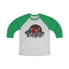 Unisex Tri-Blend 3/4 Raglan Tee (15 colors available) - Iron Pigs