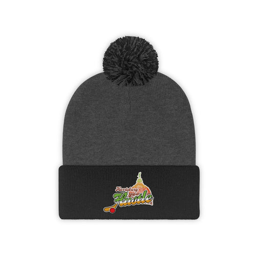 Pom Pom Beanie - (8 colors available)  - Hustle