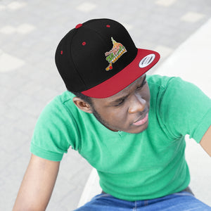 "Flat Bill ""Snapback"" Hat - (6 colors available) -  Hustle"