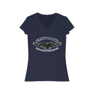 Women's Jersey Short Sleeve V-Neck Tee - Nightswatch