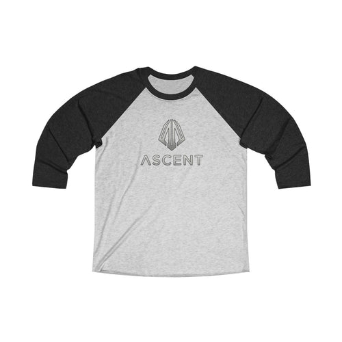 Unisex Tri-Blend 3/4 Raglan Tee - 7 COLOR -  ASCENT
