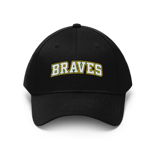 Unisex Twill Hat- 10 COLORS -BRAVES