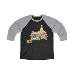 Unisex Tri-Blend 3/4 Raglan Tee (15 colors available) - Hustle