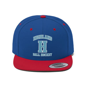 "Flat Bill ""Snapback"" Hat - (6 colors available) Highland"