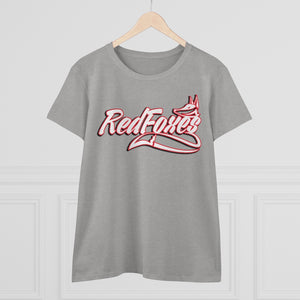 Women's Heavy Cotton Tee- 7 COLORS RED FOXES