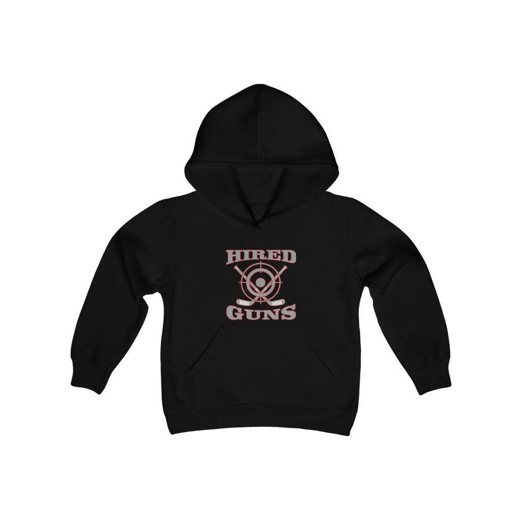 Youth Heavy Blend Hooded Sweatshirt - Hired Guns