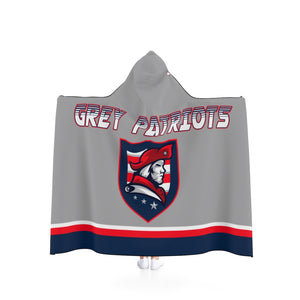 Hooded Blanket - (2 sizes) - Gray Patriots
