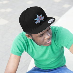 "Flat Bill ""Snapback"" Hat - (6 colors available) - JR Americans"