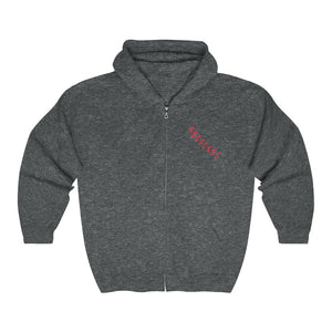 2 SIDED Unisex Heavy Blend™ Full Zip Hooded Sweatshirt -RED FOXES