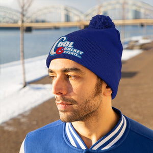 Pom Pom Beanie - Cool Hockey (8 colors available)
