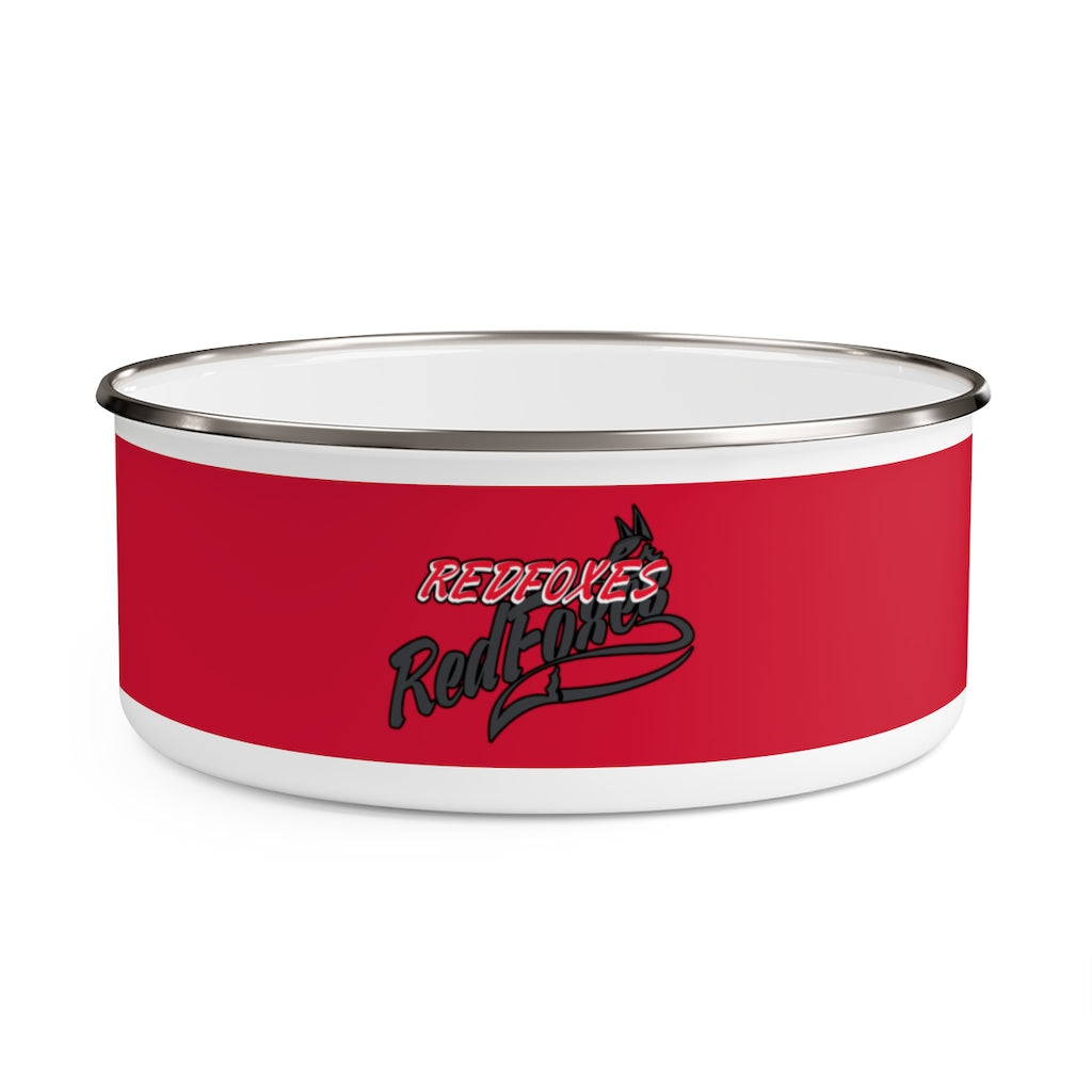 DOG WATER  BOWL- RED FOXES