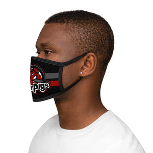 Mixed-Fabric Face Mask - Iron Pigs