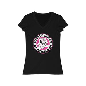 Women's Jersey Short Sleeve V-Neck Tee - Ducks