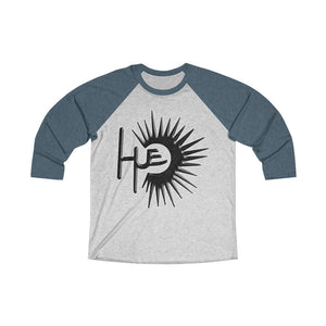 Unisex Tri-Blend 3/4 Raglan Tee (15 colors available) - HUE-SUN