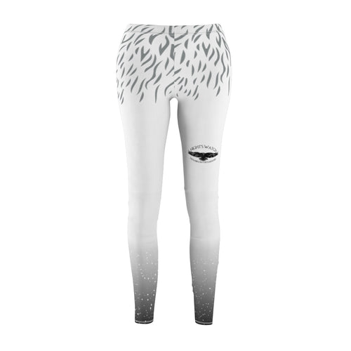Women's Cut & Sew Casual Leggings - Nightswatch