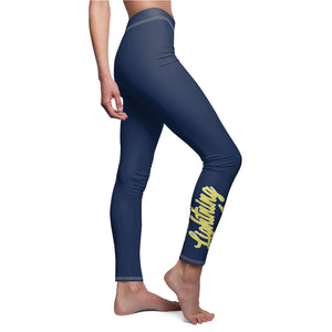 Women's Cut & Sew Casual Leggings 2 - Lightning