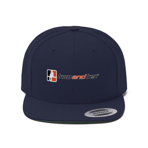 "Flat Bill ""Snapback"" Hat - 2 and 10 (6 colors available)"