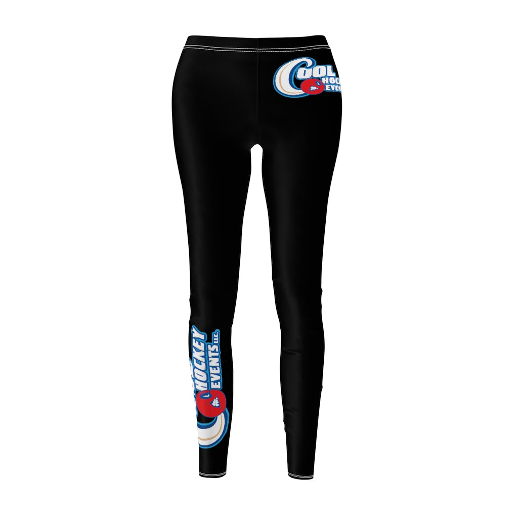 Women's Cut & Sew Casual Leggings  2 - Cool Hockey
