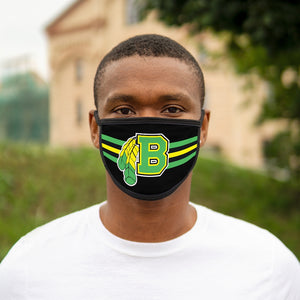 Mixed-Fabric Face Mask - Braves
