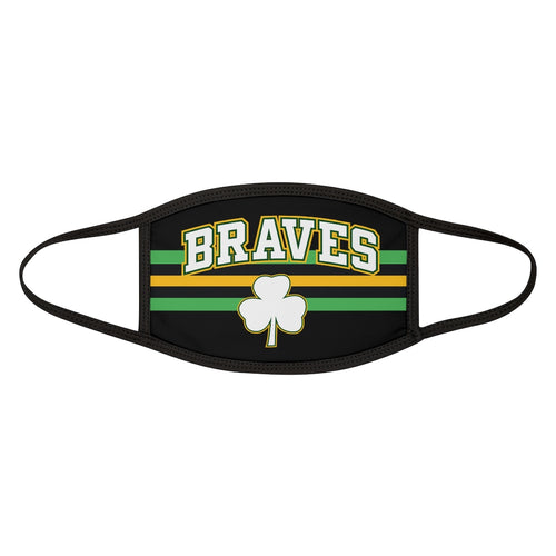 Mixed-Fabric Face Mask - Braves-2