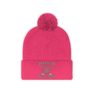 Pom Pom Beanie - (8 colors available)  - Hired Guns