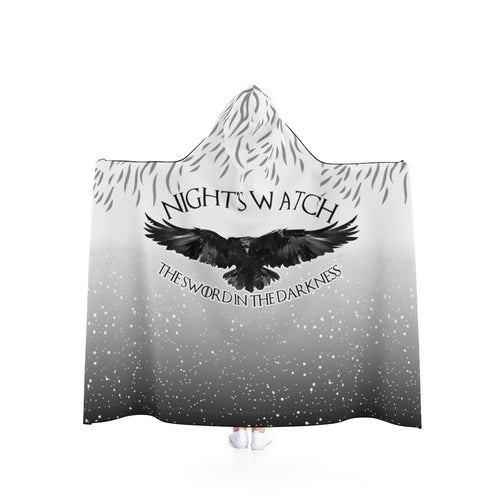 Hooded Blanket - (2 sizes) - Nightswatch